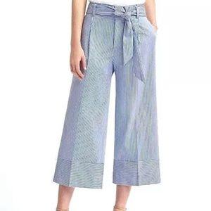 Banana Republic wide leg crop pants